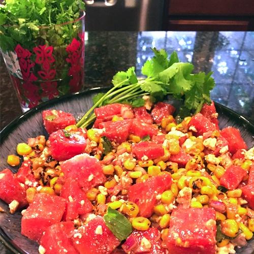 Corn And Watermelon Salad