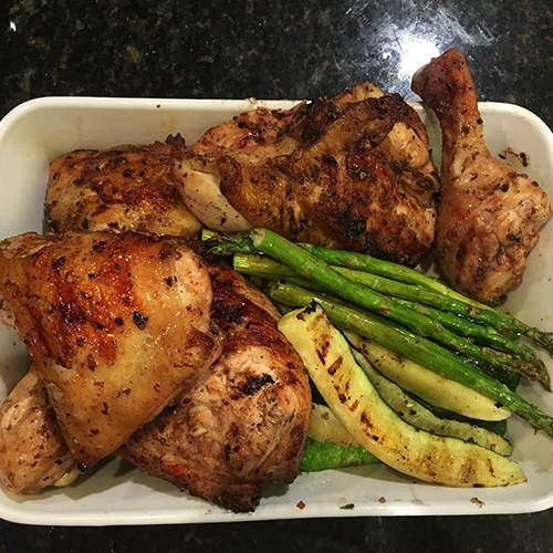Grilled Marinated Chicken & Veggies