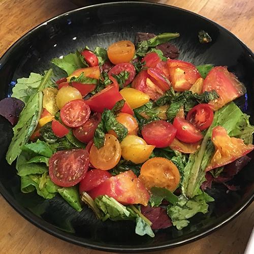Summer Heirloom Tomato Basil Salad